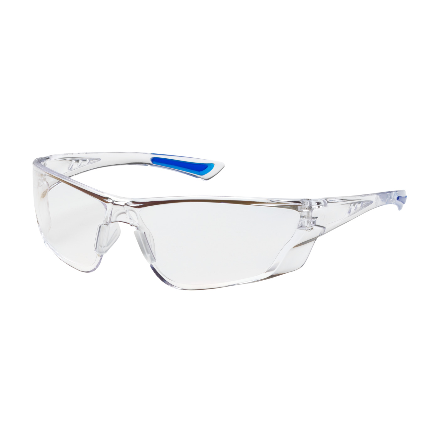 PIPR 250-32-0520 Rimless Safety Glasses with Clear Temple, Clear Lens and Anti-Scratch / FogLess® 3Sixty™ Coating