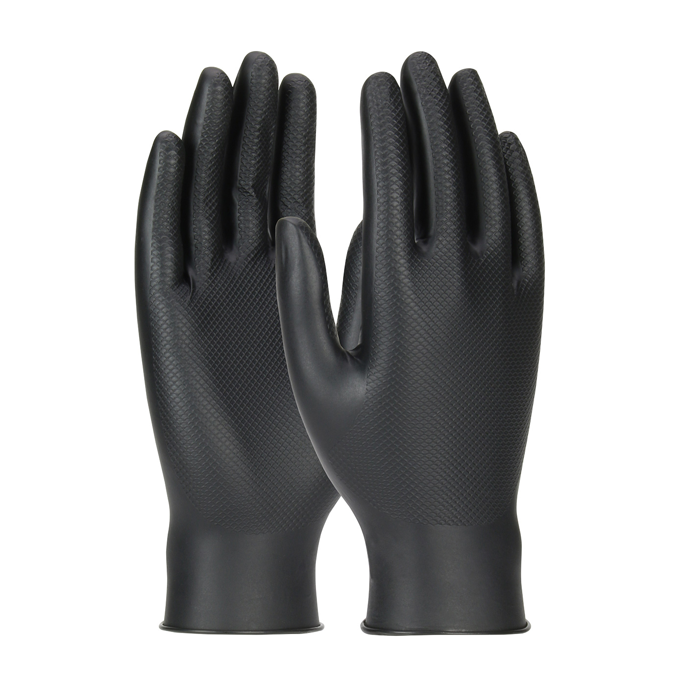 PIPR 67-246/L Superior Ambidextrous Nitrile Glove with Textured Fish Scale Grip - 6 Mil (box of 50 gloves)
