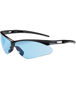 PIPR 250-AN-10113 ANSER EYEWEAR LIGHT BLUE POLYCARBONATE LENS ANTI-SCRATCH BLACK FRAME RADIUSED TEMPLES W/ RUBBER TIPS SOFT RUBBER NOSEPIECE