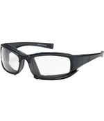 PIPR 250-CE-10090 CEFIRO EYEWEAR/DUST GOGGLE, CLEAR POLYCARBONATE LENS, ANTI-SCRATCH AND ANTI-FOG, BLACK FULL FRAME WITH FOAM PADDING, INCL INTERCHANGEABLE
