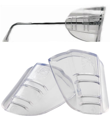 PIPR 252-FX-0001 FLEX SIDESHIELDS FOR EYEWEAR, CLEAR, INDIVIDUALLY BAGGED PAIRS,