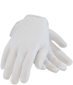 PIPR 97-500 CLEANTEAM INSPECTIOIN GLOVE COTTON LISLE PREMIUM QUALITY LIGHT WEIGHT UNHEMMED MENS